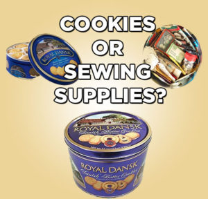 cookies and sewing supplies