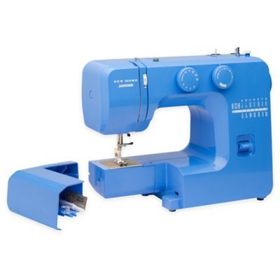 Janome Blue Couture Easy-To-Use Sewing Machine With Interior Metal Frame